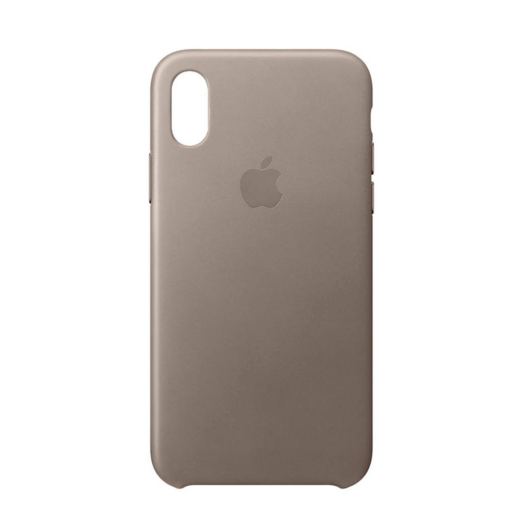 Apple iPhone X leren backcover, Taupe