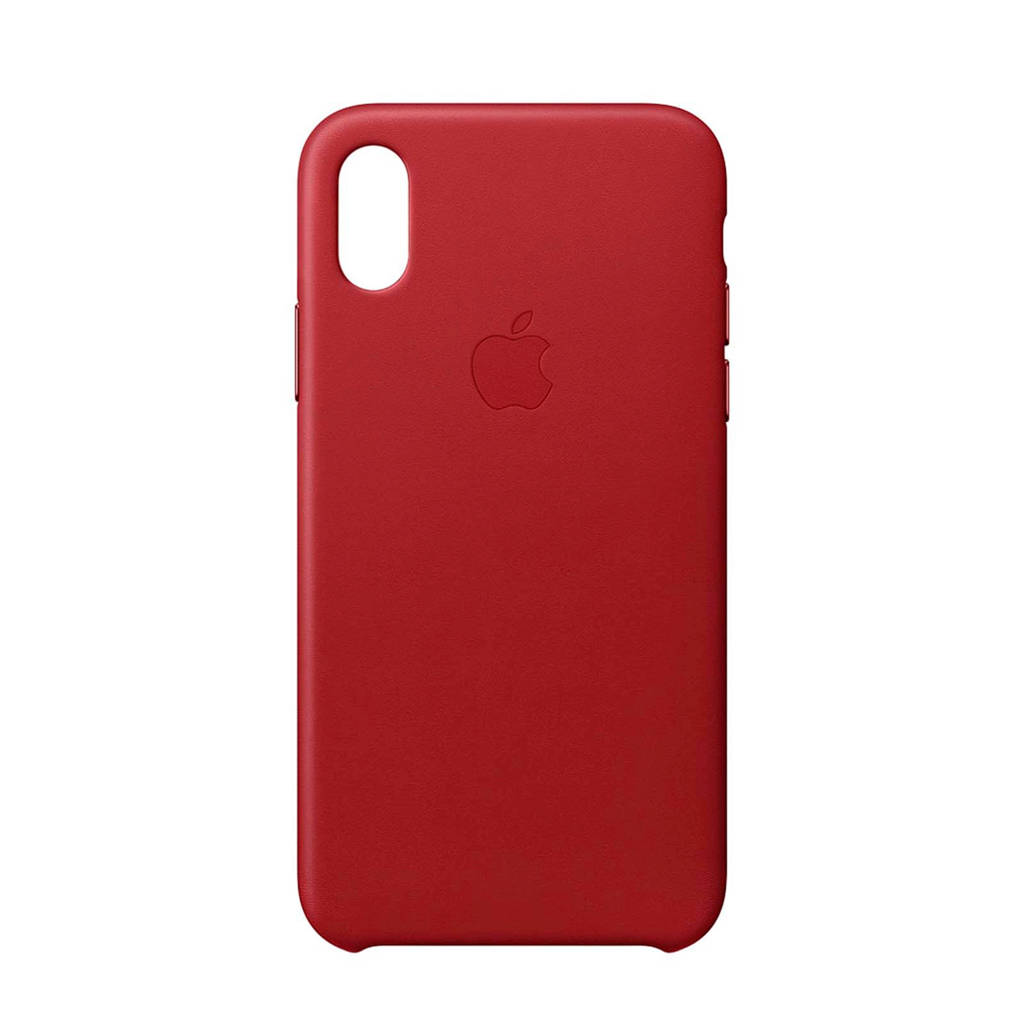 Apple iPhone X leren backcover, Rood