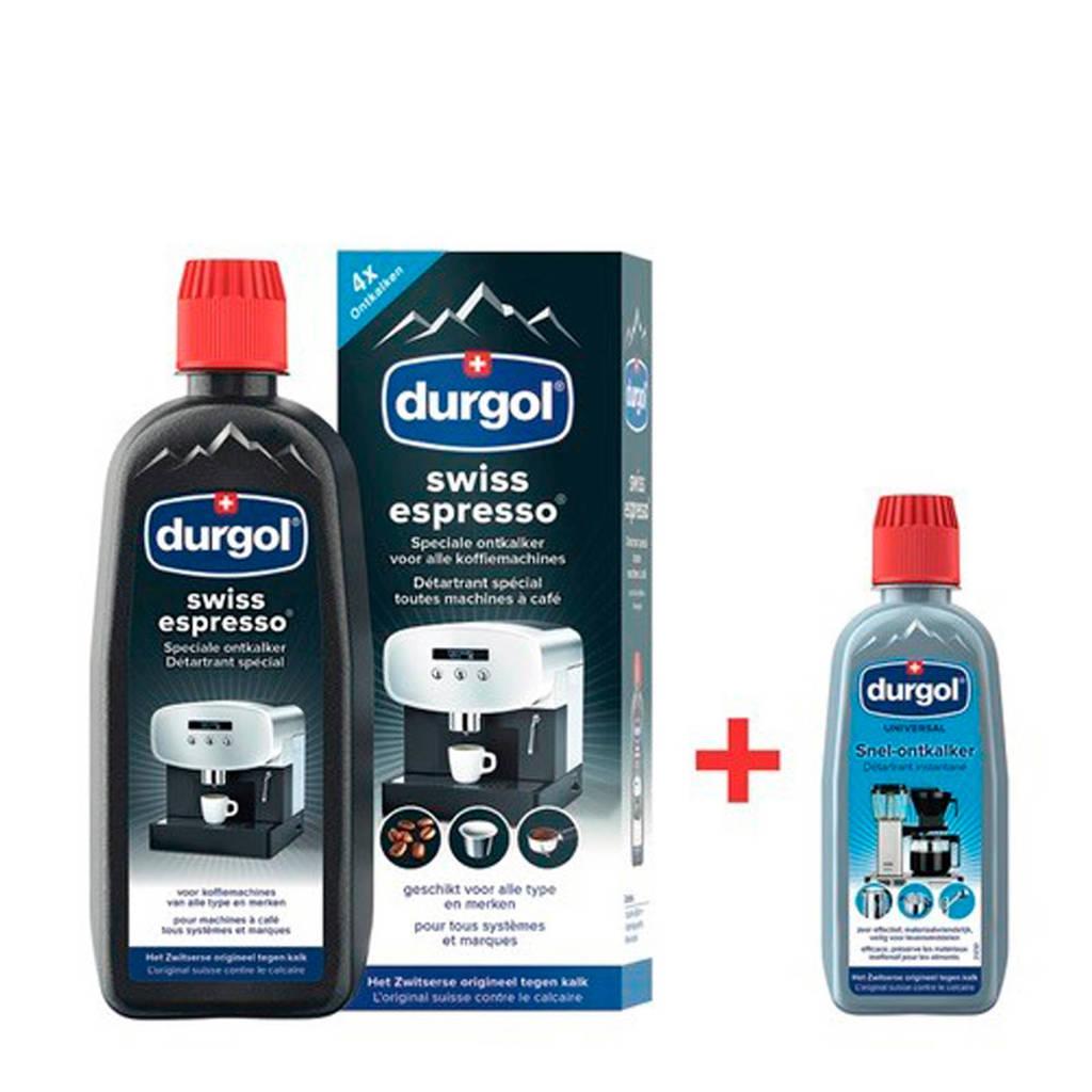 Durgol reiniging Swiss espresso 500 ML + 125 ML Universal (ontkalkset)
