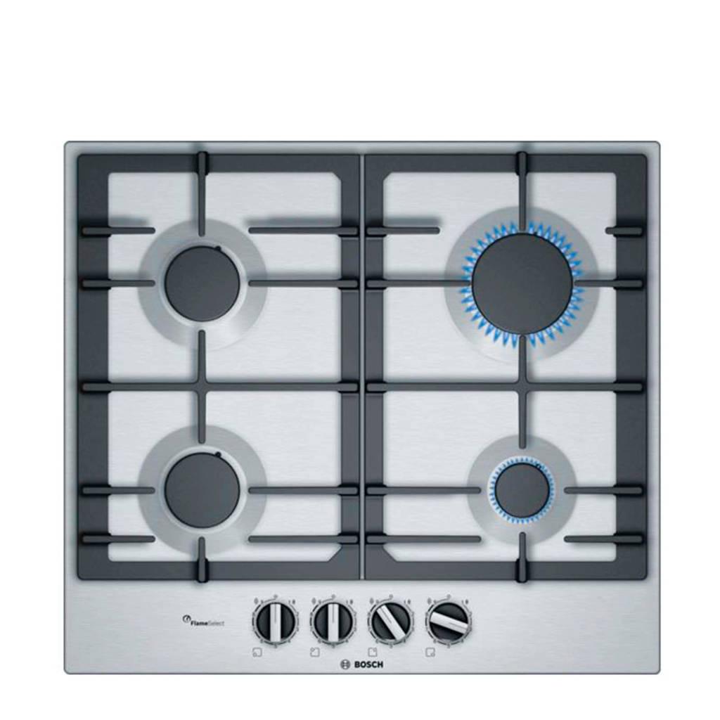 Bosch PCP6A5B90N inbouw gaskookplaat, Zilver