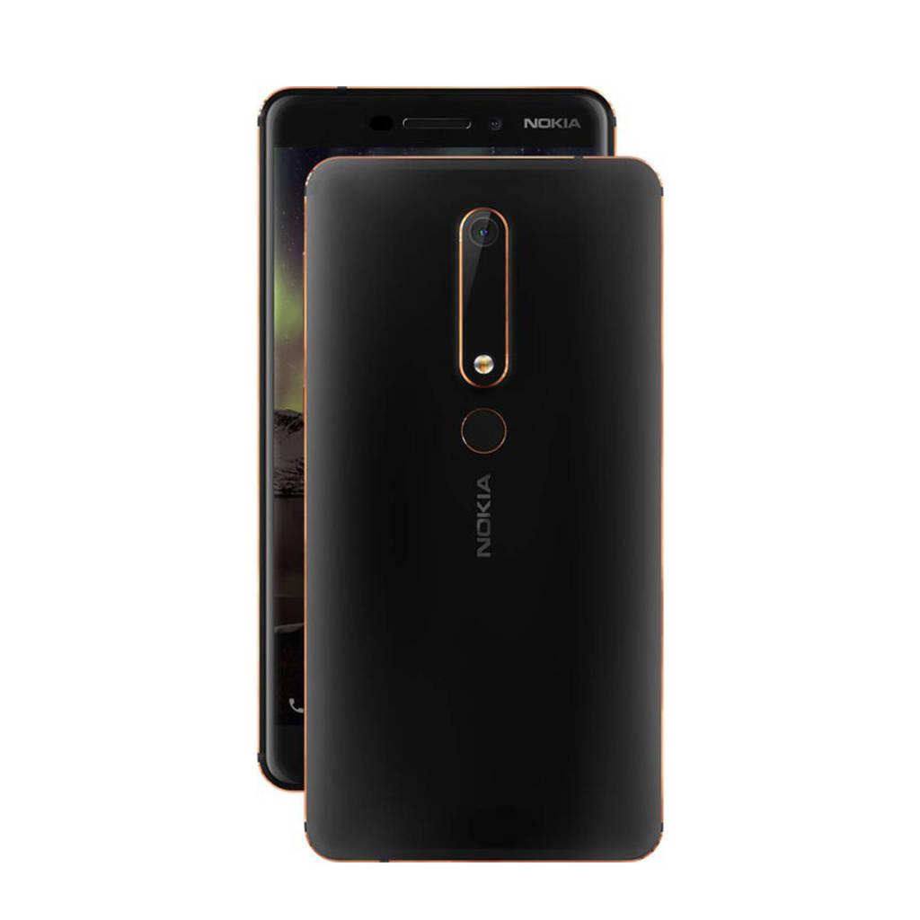 Nokia 6.1, zwart, koper