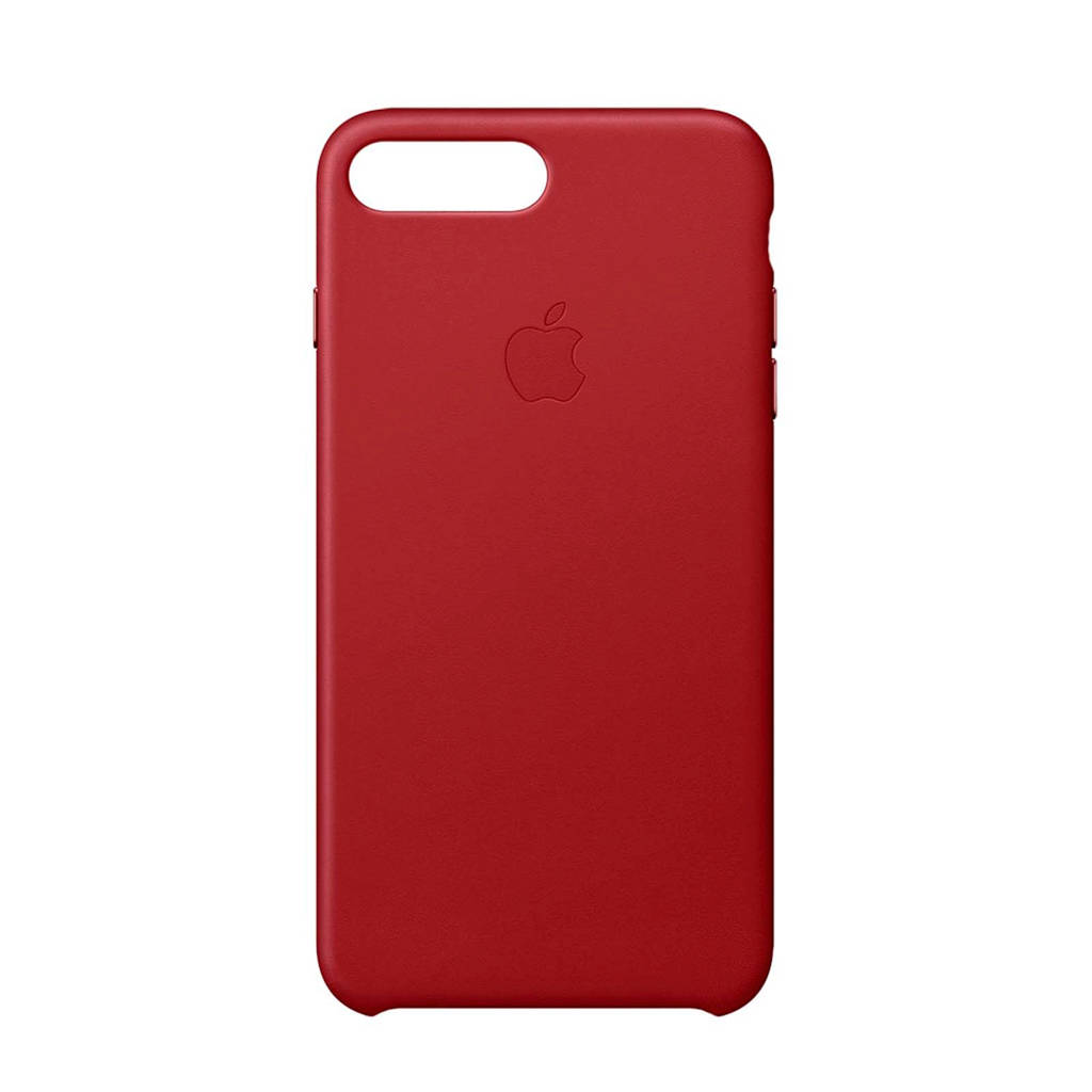 Apple iPhone 8 Plus / 7 Plus leren backcover, Rood