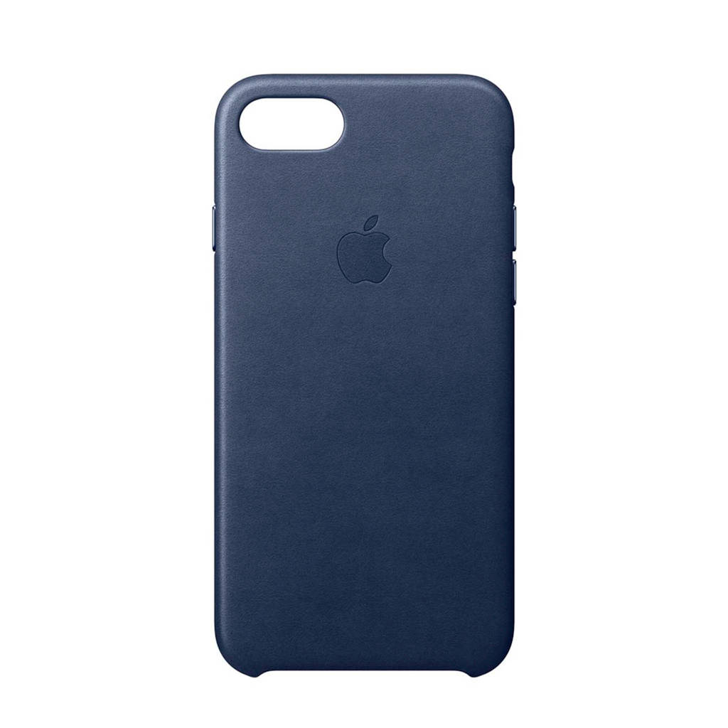 Apple iPhone 8 / 7 leren backcover, Middernachtblauw