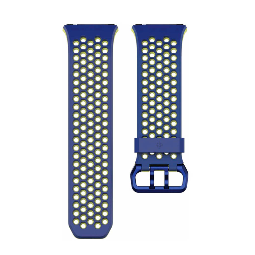 Fitbit Ionic sport polsband Large (Blauw/Geel), Blauw, geel