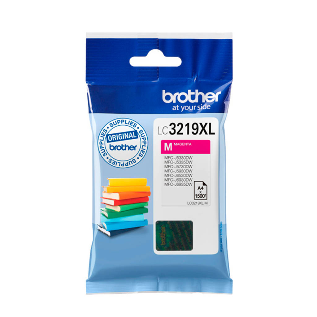 Brother LC-3219XLC XL cartridge, Blauw