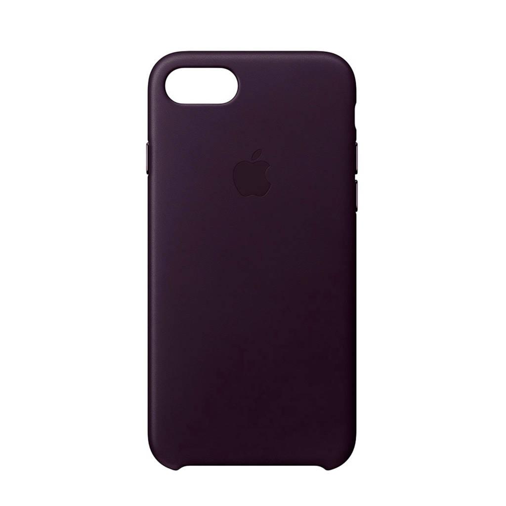 Apple iPhone 8 / 7 leren backcover, Aubergine