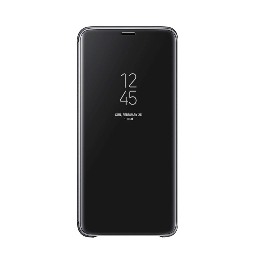 Samsung Galaxy S9+ Clear View Stand Cover, Zwart