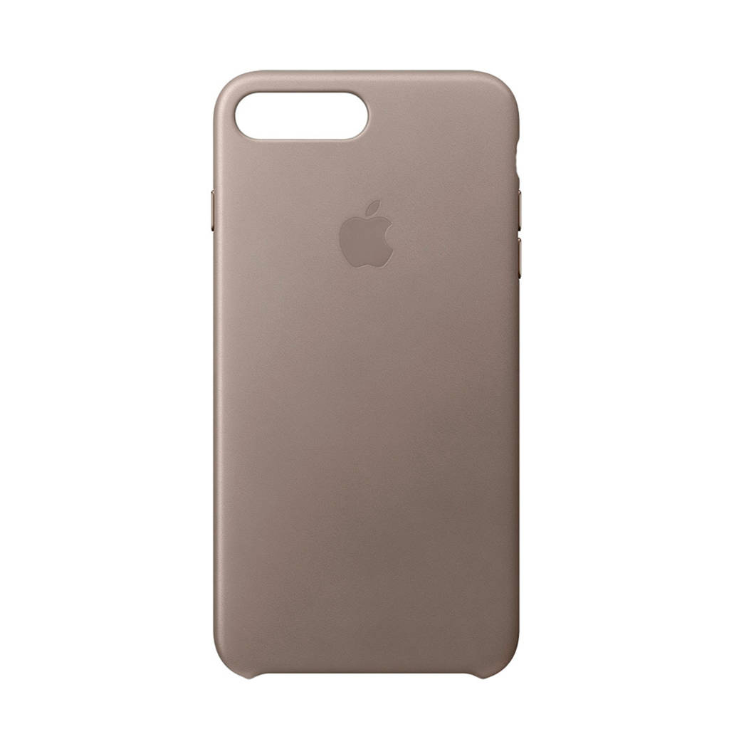 Apple iPhone 8 Plus / 7 Plus leren backcover, Taupe