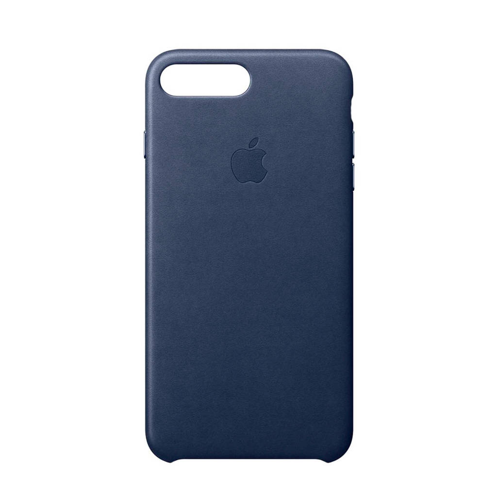 Apple iPhone 8 Plus / 7 Plus leren backcover, Middernachtblauw