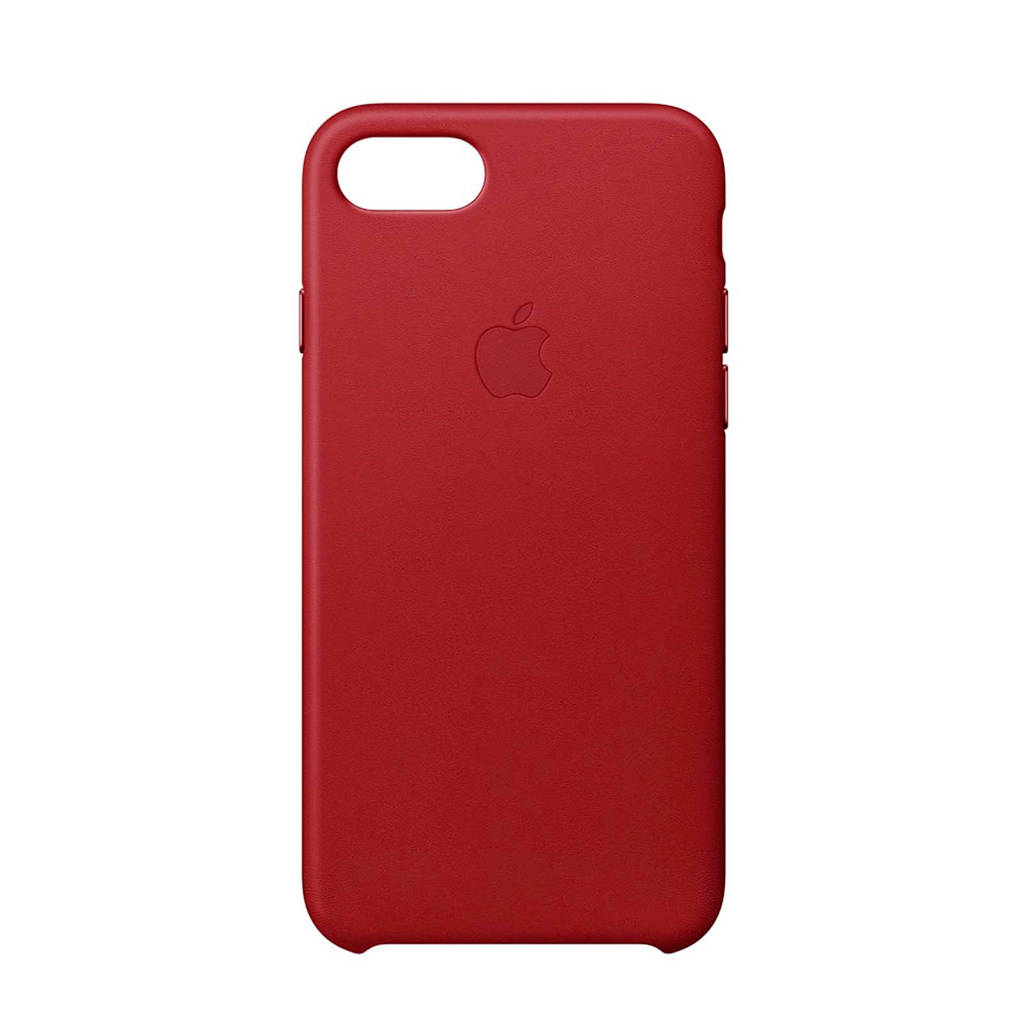 Apple iPhone 8 / 7 leren backcover, Rood