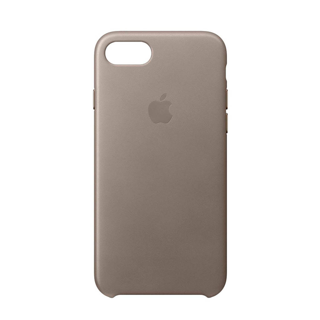 Apple iPhone 8 / 7 leren backcover, Taupe