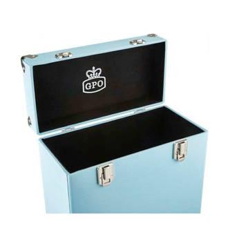 platenkoffer CASE 12inch blauw