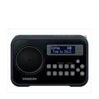 Sangean DPR-67 draagbare DAB+ radio zwart, Zwart