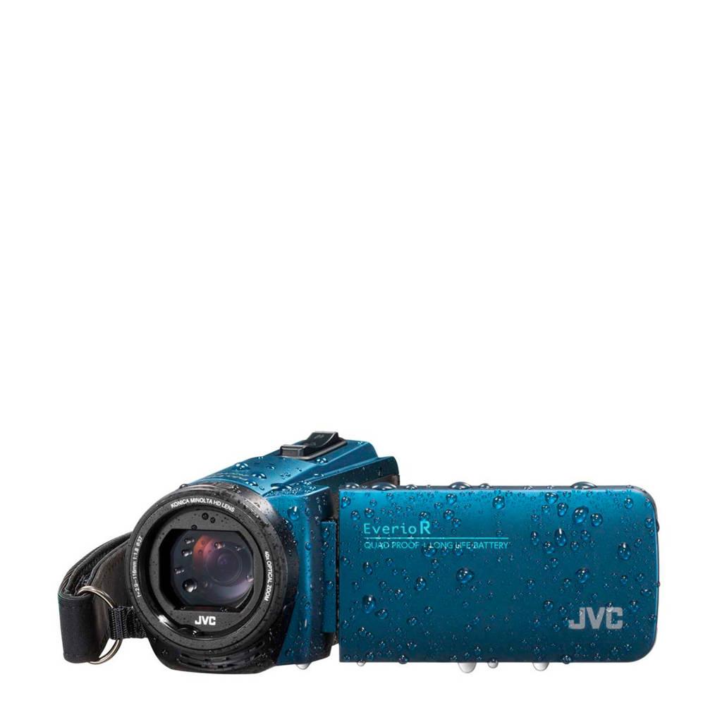 JVC Everio GZ-R495A camcorder met cameratas en 16GB SD kaart, Blauw