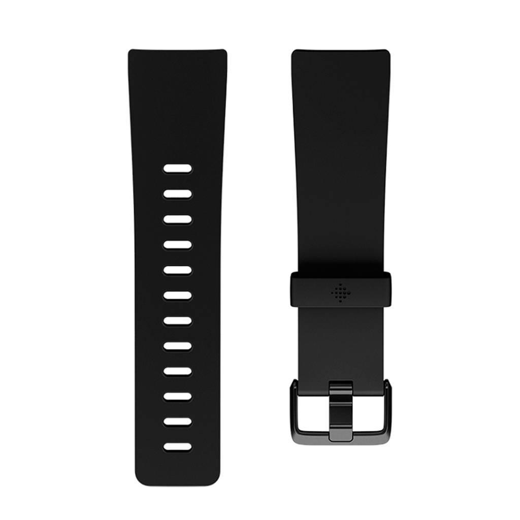 Fitbit versa leren horlogeband, Zwart