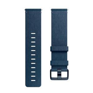 Versa leren polsband Large (Blauw)