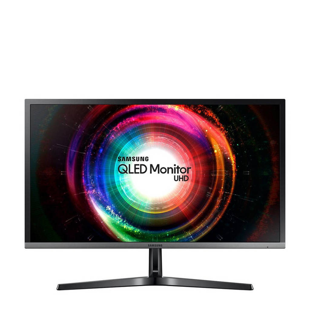 Samsung LU28H750UQUXEN 28 inch 4K Ultra HD QLED monitor, Zwart