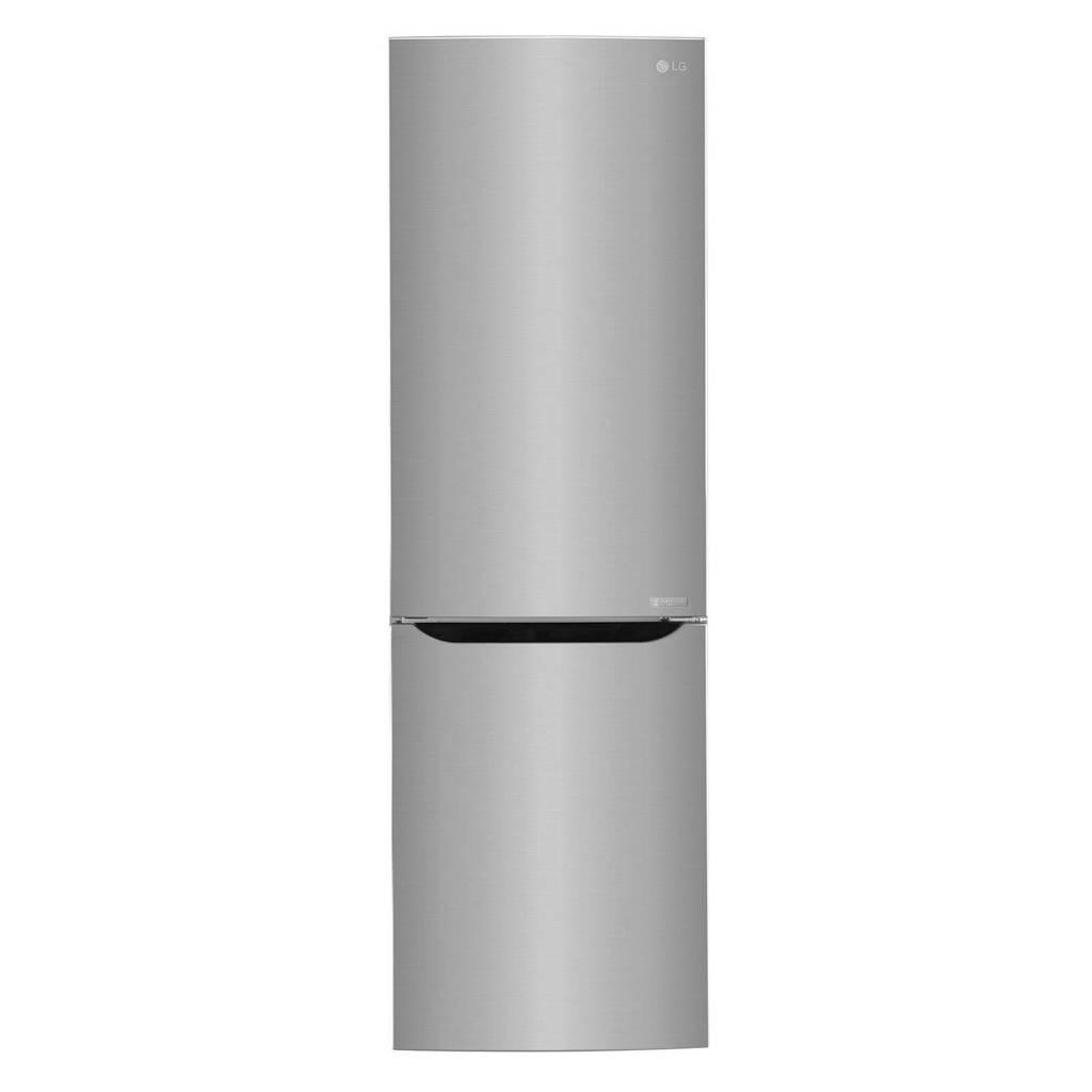 LG GBB59PZGFS koelvriescombinatie, Glanzend staal