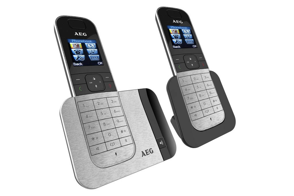 AEG Voxtel D570 Twin huistelefoon, Zwart