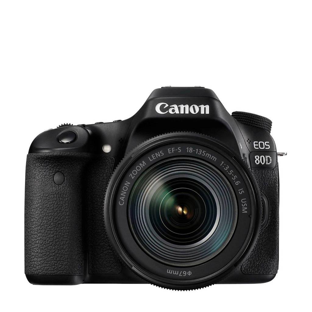 Canon EOS 80D + EF-S 18-135 IS USM spiegelreflexcamera