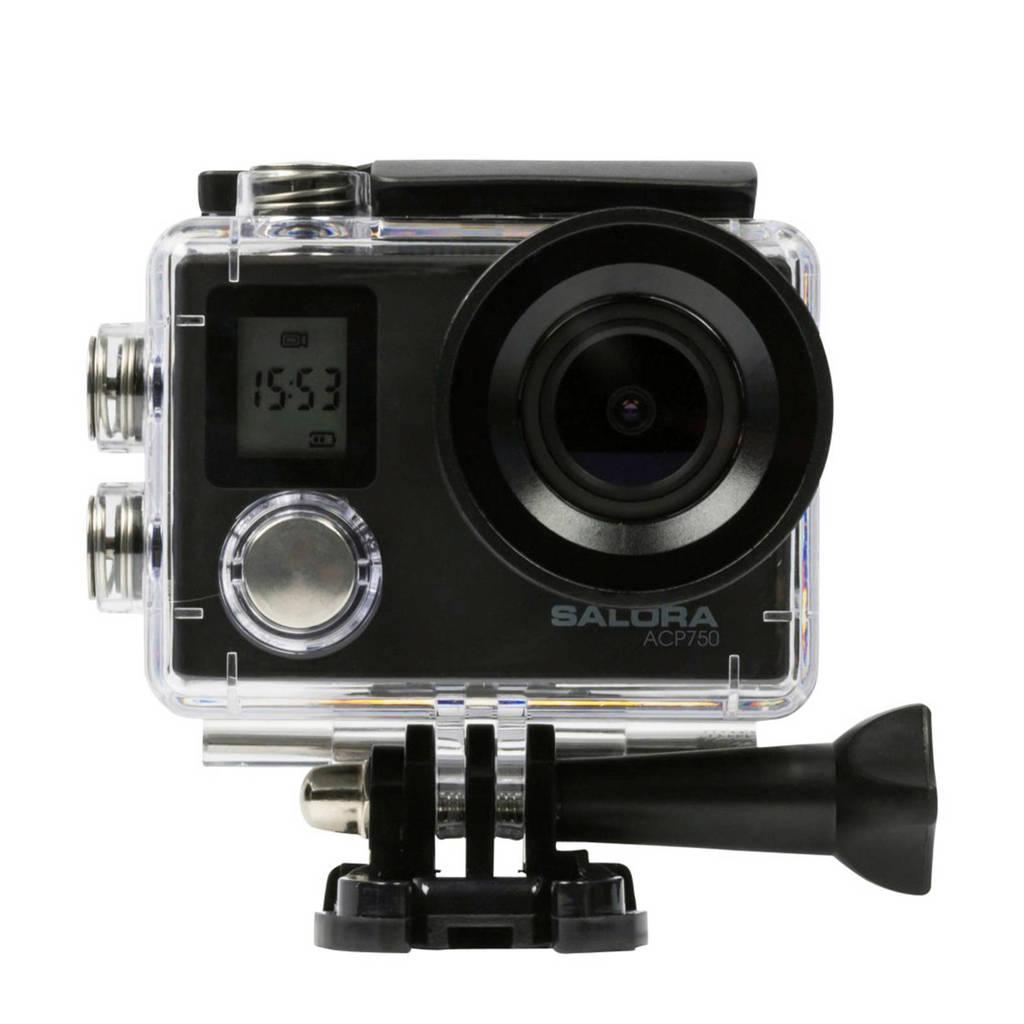 Salora ACP750 actioncamera, Zwart