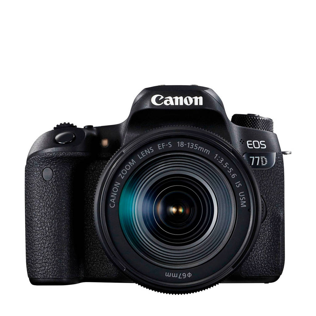 Canon EOS 77D 18-135mm IS USM Spiegelreflexcamera + lens