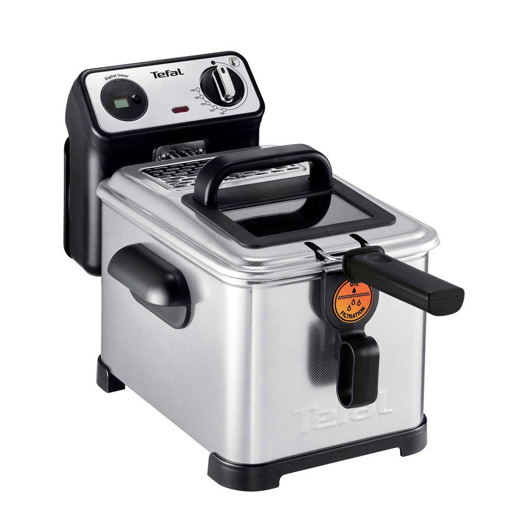 Tefal FR5111 Filtra Pro Inox & Design friteuse, Zwart, Roestvrij staal