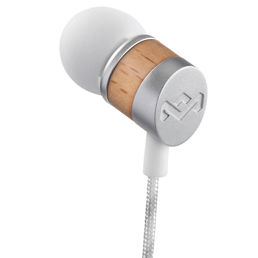 House of Marley Uplift Drift in-ear koptelefoon wit, Zilver, wit