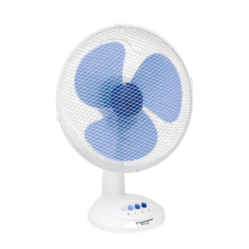 Bestron DDF35W tafelventilator, Wit/blauw
