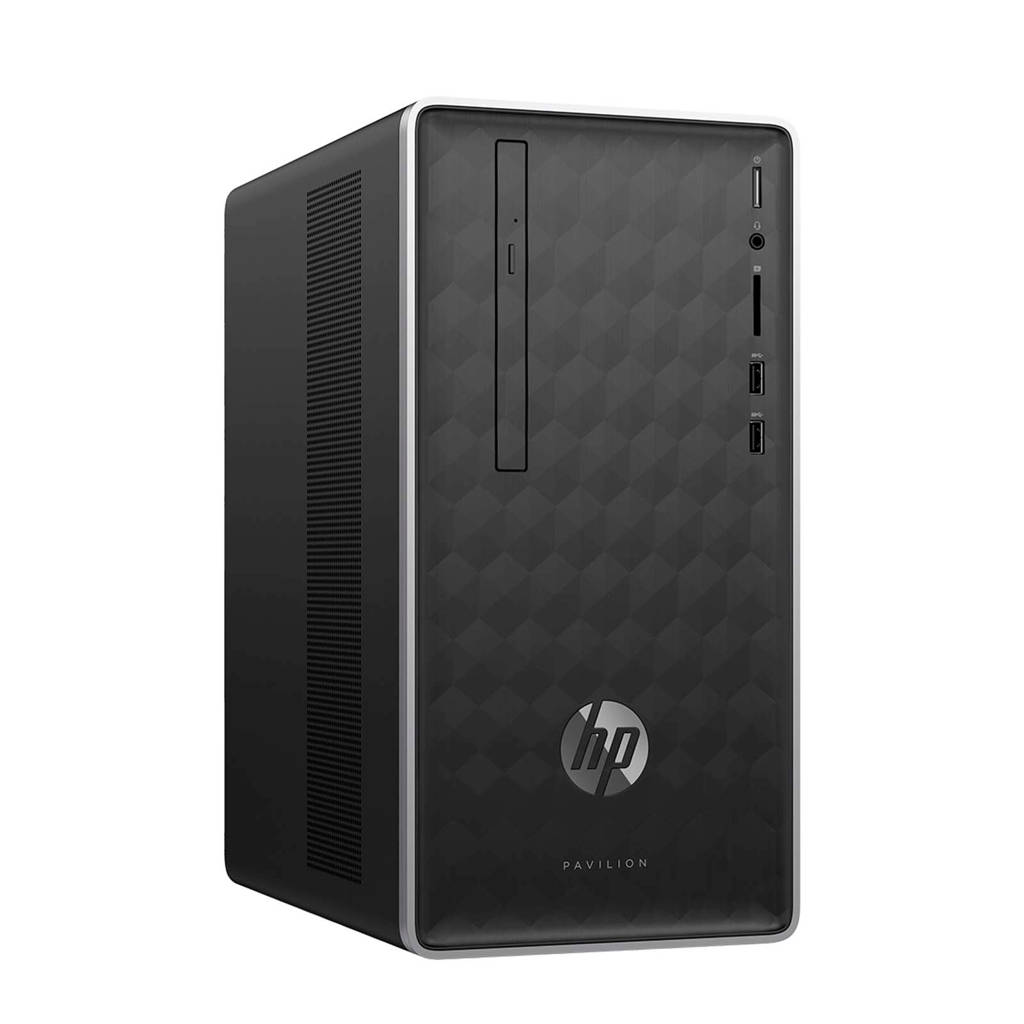 HP Pavilion 590-p0210nd computer, Zwart