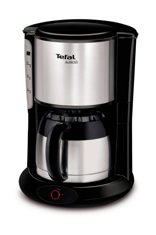 Tefal CI3608 Subito koffiezetapparaat, Zwart, Roestvrij staal
