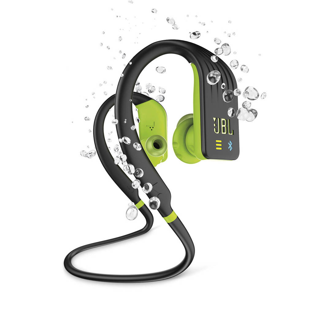 JBL in-ear bluetooth sport koptelefoon Endurance DIVE zwart-lime, Zwart-Lime