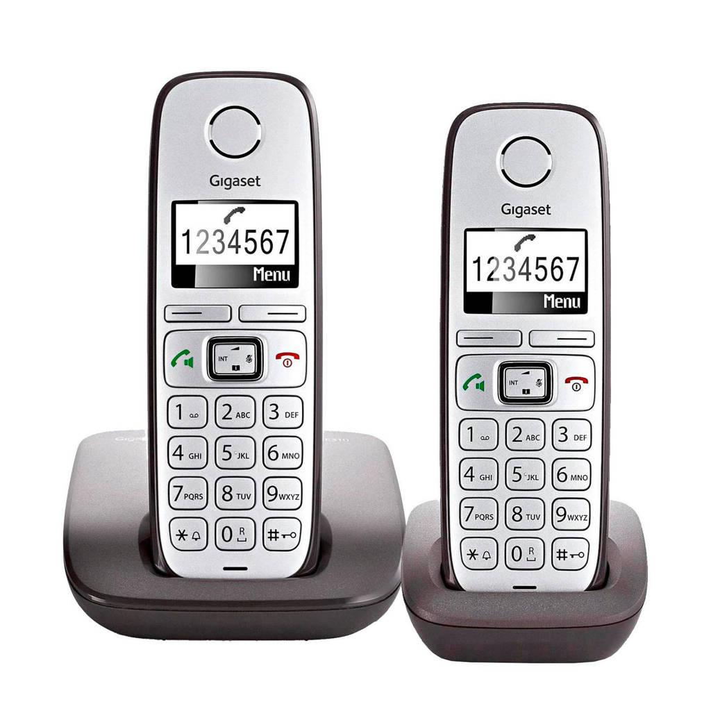 Gigaset E310 duo big button huistelefoon, Grijs