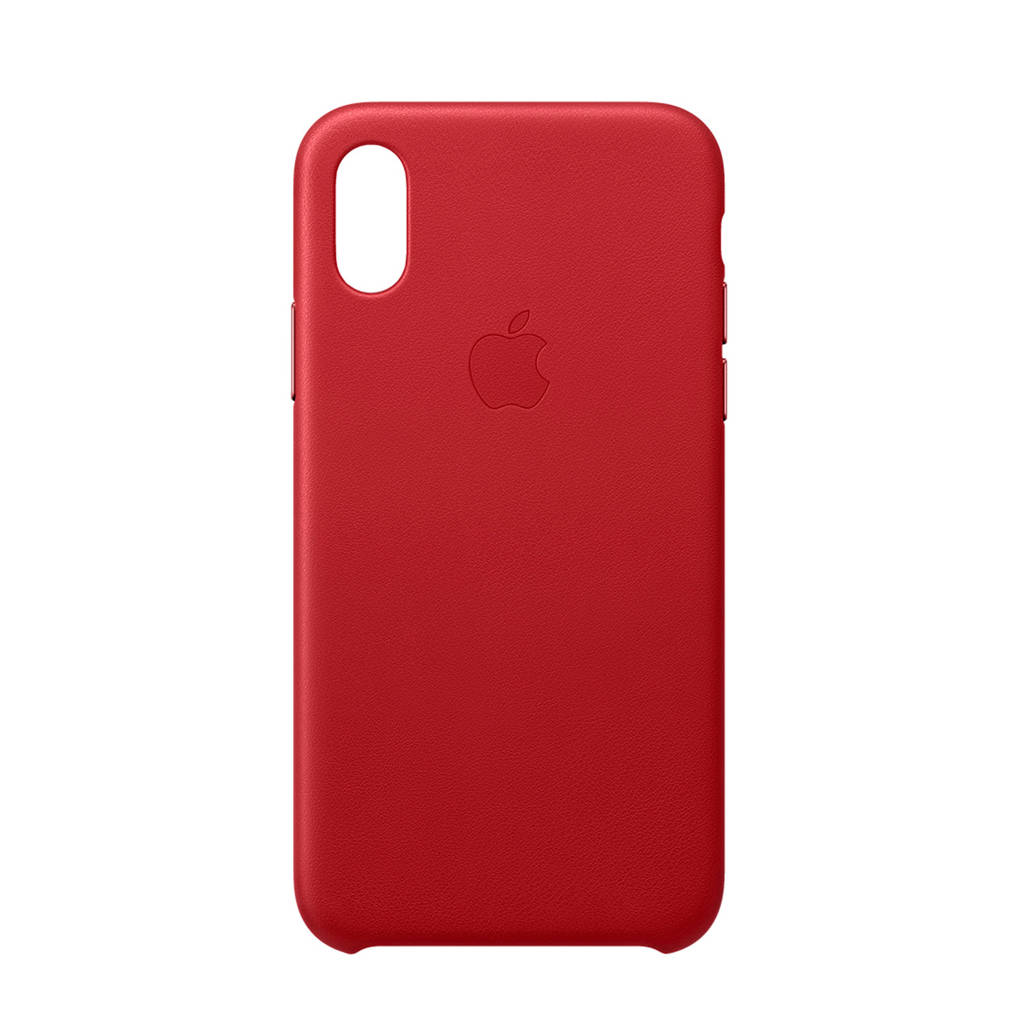 Apple iPhone XS leren backcover, Rood