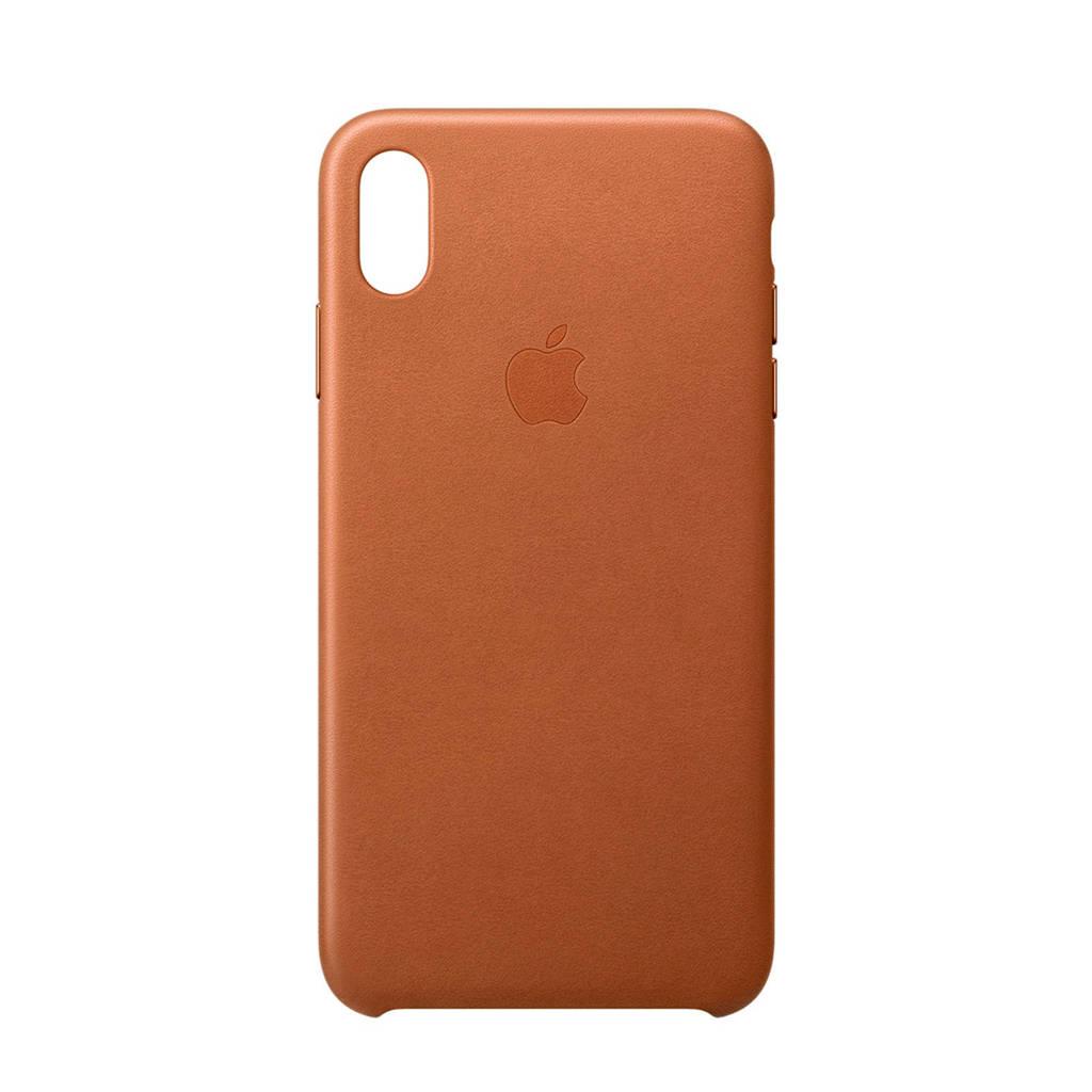 Apple iPhone XS Max leren backcover, Bruin