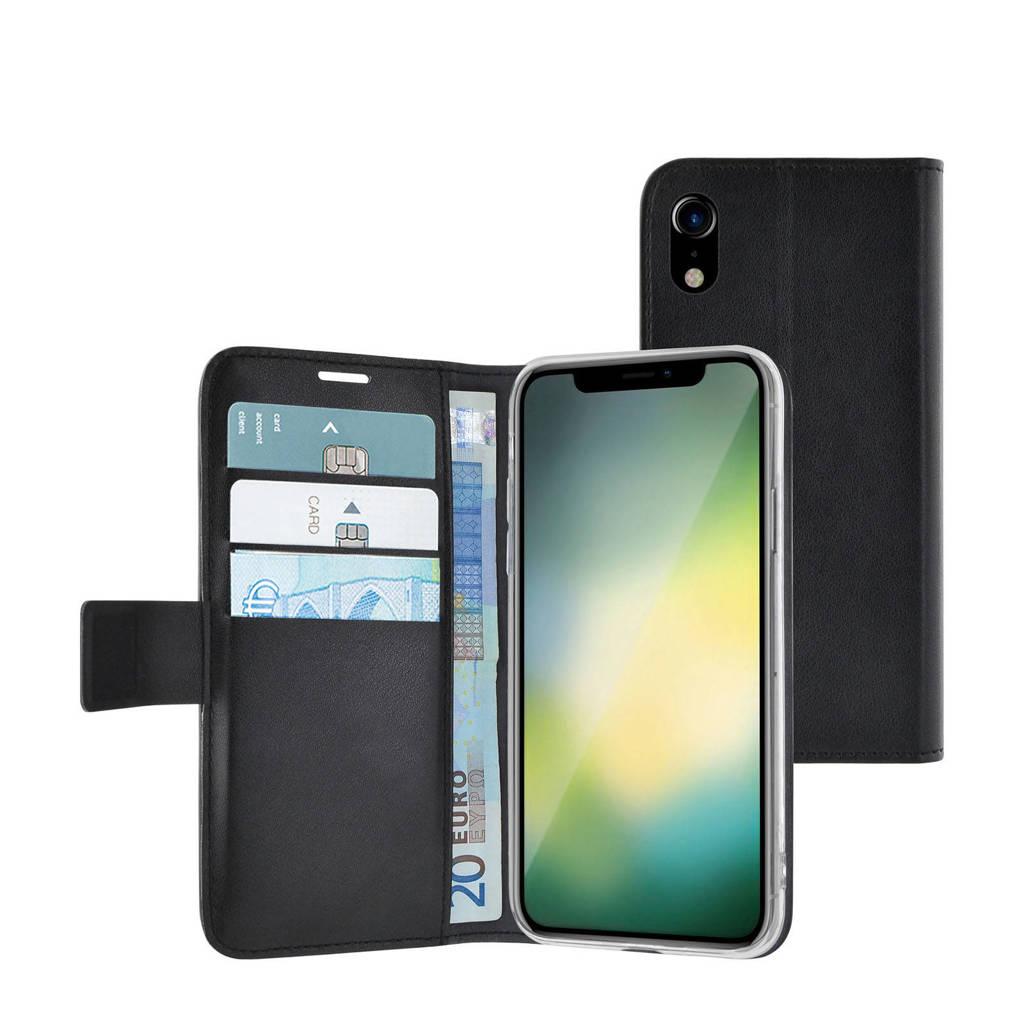Azuri iPhone XR wallet cover, Zwart