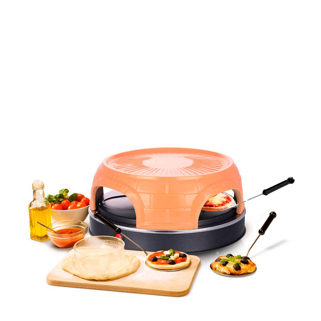 Emerio Keep Warm pizzarette, 4 persoons, Terracotta/zwart