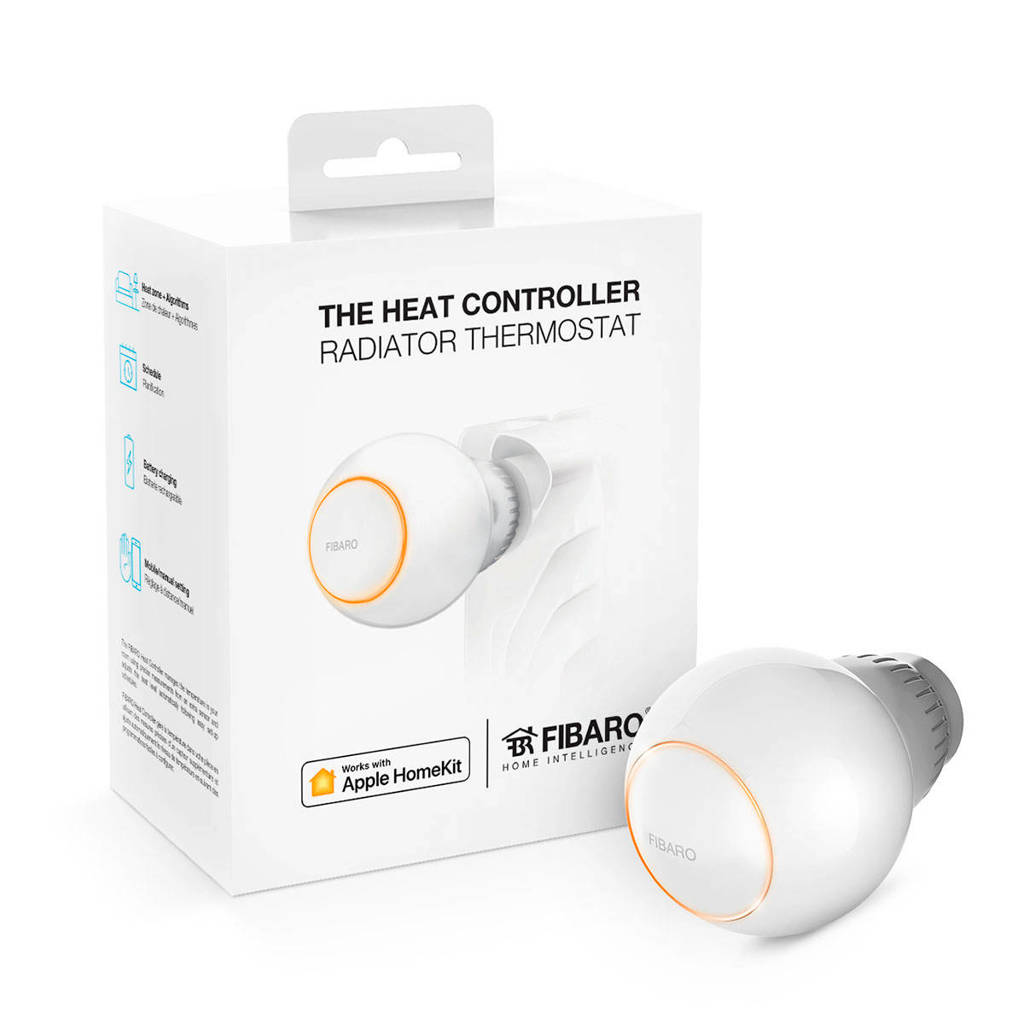 Fibaro FIBARO THE HEAT CONTROLLER WORKS WITH APPLE HOMEKI radiatorthermostaat inclusief tempratuursensor