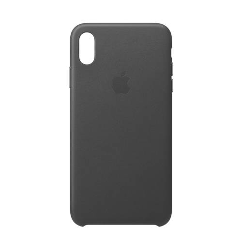 Apple iPhone Xs Max Leather Back Cover Zwart