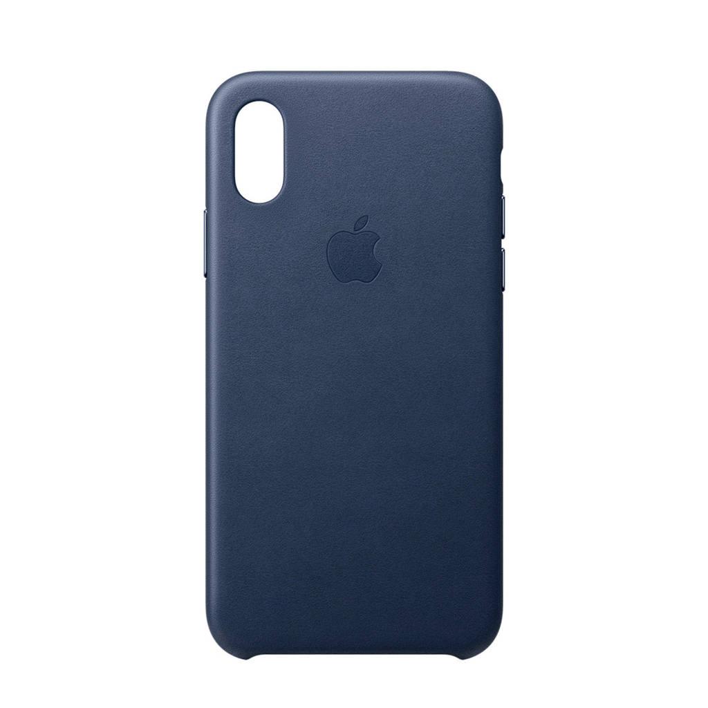 Apple iPhone XS leren backcover, Blauw