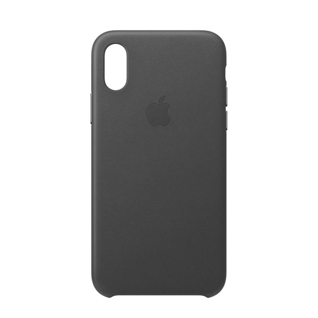 Apple iPhone XS leren backcover, Zwart