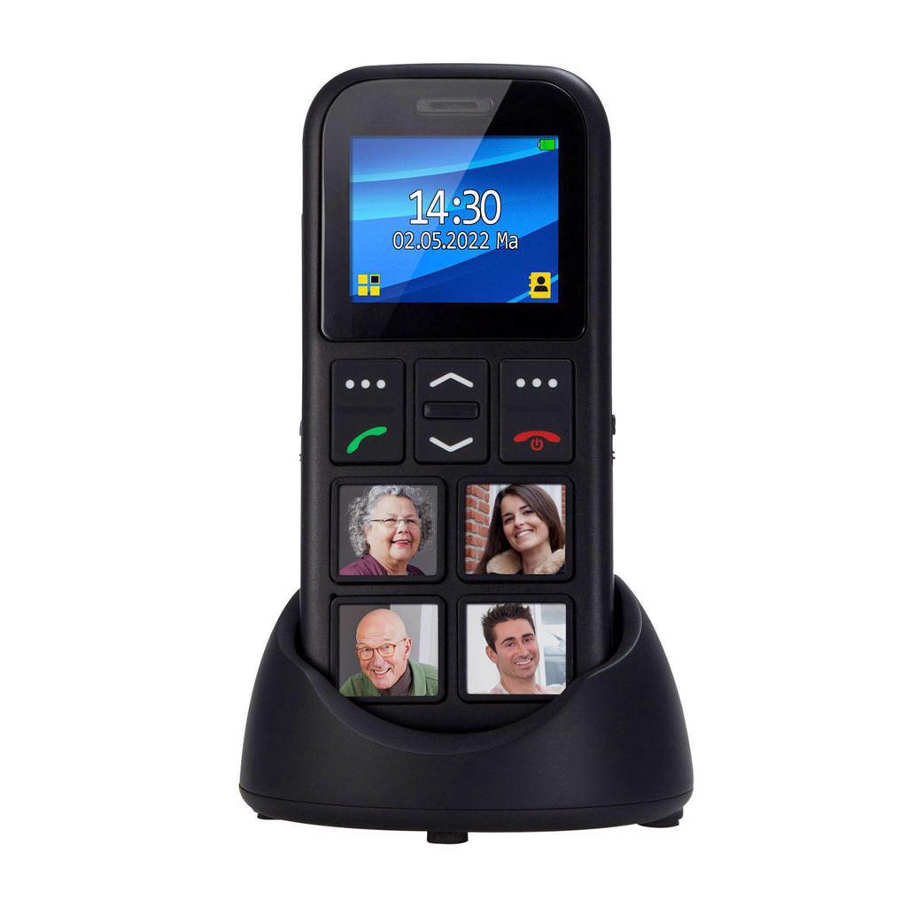 Fysic FM-50 mobiele telefoon, Zwart