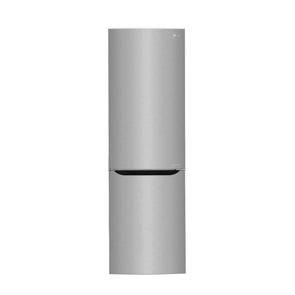 LG GBB59PZRZS koelvriescombinatie, Glanzend staal
