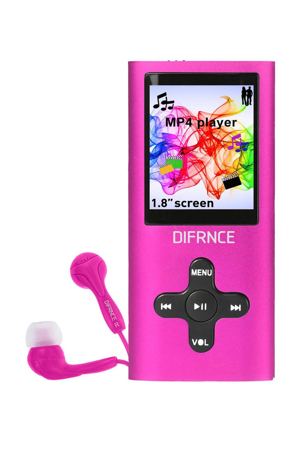 Difrnce MP1851 KM xMP4-speler roze, Roze