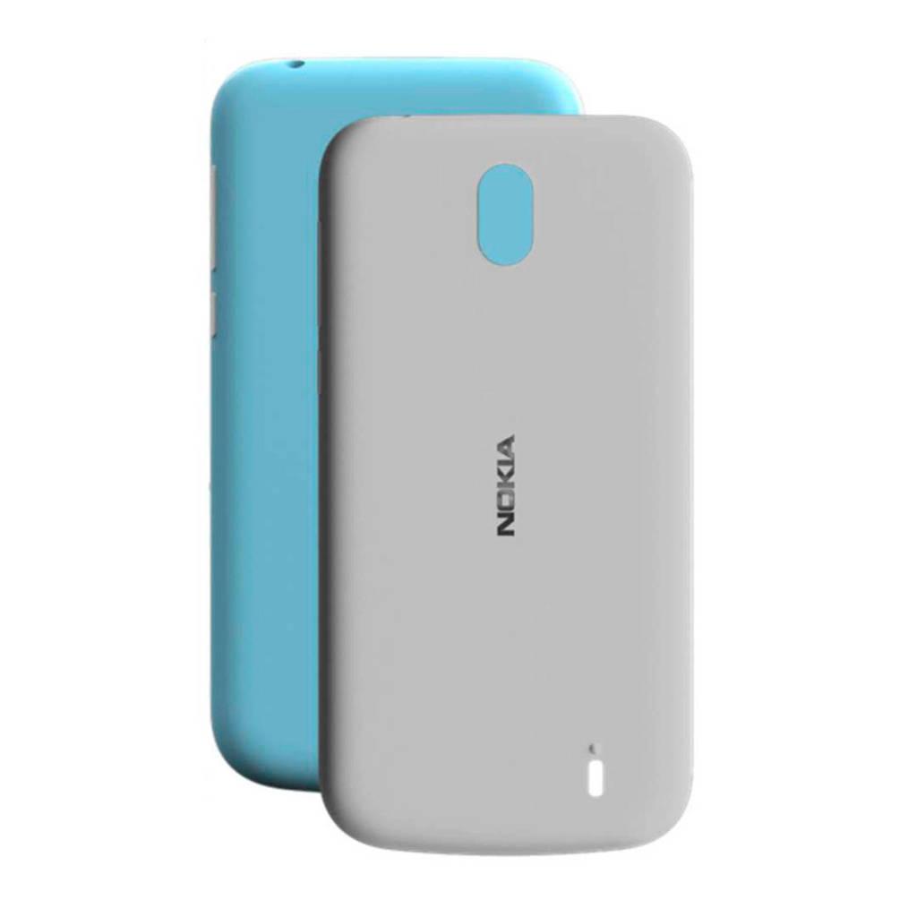 Nokia 1 duo backcover, Blauw/grijs
