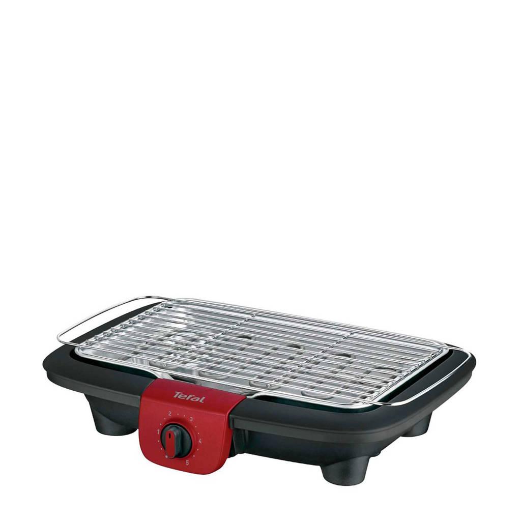 Tefal EasyGrill BG90F5 elektrische barbecue met onderstel, Zwart, Roestvrijstaal