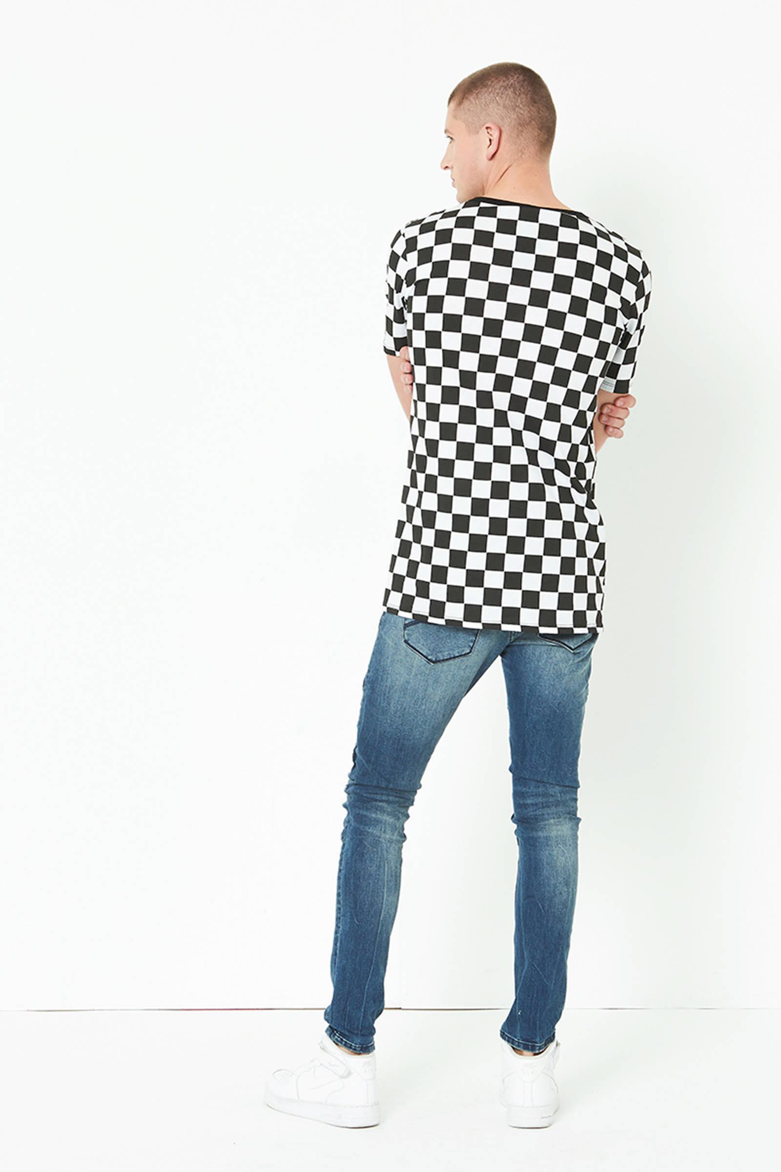 Patroon Geblokt Shirt Met Coolcat ZwartwitWehkamp T Yb6gfy7