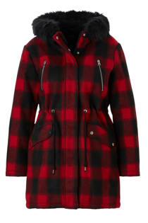 C&A XL Clockhouse geruite coat rood (dames)