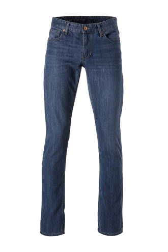 The Denim  straight straight fit jeans blauw