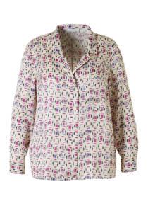 Violeta by Mango satijnen blouse met allover print (dames)